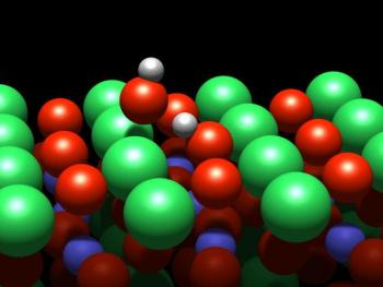 Water molecules' behavior on perovskite surfaces offers important tools for surface and materials research